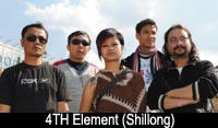 4th Element (Shillong) - 12th Decmber 2010  6 pm onwards